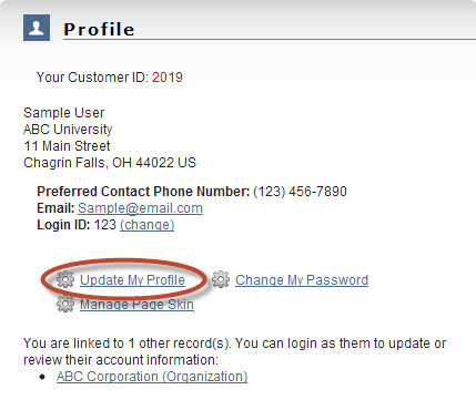 On This Page You Can Update Your Contact Information Communication Preferences Demographics Address And More
